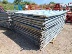 30 x Heras Style Hoarding / Security Fencing Panels 2.15m x 2m