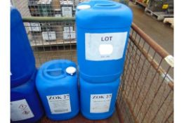 3 x Unissued 25L Drums of ZOK 27 Corrosion Inhibitor for Gas Turbines