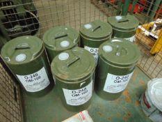 6 x Unissued 25L Drums of OM-100 Mineral Based Turbine Engine Lubricating Oil
