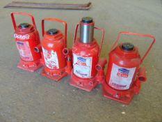 Q 4 x Sealey Yankee 12 Tonne Hydraulic Jacks