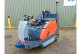 2011 HAKO JONAS 1200 V RIDE ON GAS SWEEPER ONLY 3,288 HOURS!!!