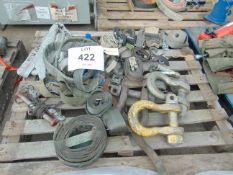 1x Pallet Ratchet straps, tow ropes, large D shackles etc as shown