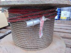 Unissued Certex 65m 14mm Winching Wire Rope Drum
