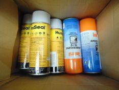 2 x Unissued 400ml Tins of Amberklene Degreaser & 3 x 370ml Tins of Humiseal IB31 Acrylic Coating