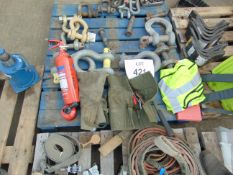 1x Pallet D shackles, tool kits etc as shown