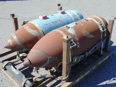 2 x RAF Harrier 1000lb Practice Bombs
