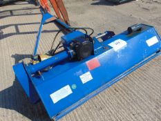 1-7 M TRACTOR MOUNTED FLAIL MOWER WITH HYDRAULIC SIDE SHIFT AND PTO SHAFT