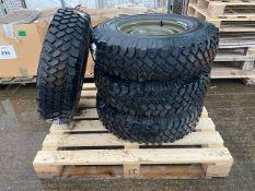 4 x Michelin 235/85R16 XZL C/W Heavy Duty Wolf Rims