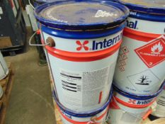 1 x Unissued 20L International Intersmooth 7460HS Anti Fouling Paint Brown