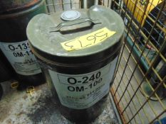 1 x Unissued 25L Drum of OM-100 Mineral Oil Based Lubricating Oil for Turbine Aircraft