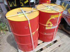 2 x Unissued 205L Drums of Shell Rimula R3 Multi Heavy Duty Diesel Engine Oil 10W-30 CM-4