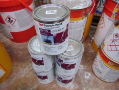 5 x Unissued 1L Scotch-Weld EC-776 Fuel Reistant general purpose, solvent based adhesive/coating