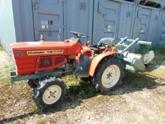 YANMAR 1510D 4X4 TRACOTR WITH ROTAVATOR 513 HOURS