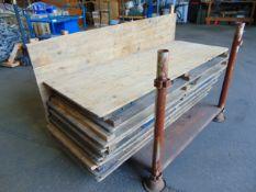12 x Standard British Army trestle Tables