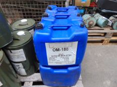 6 x Unissued 20L Drums of OM-180 High Quality Air Compressor Lubricating Oil