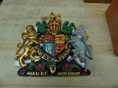 Hand Painted Royal Crest As Shown