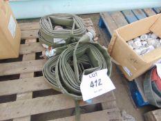 4x Lengths 9.1m layflat hose as shown