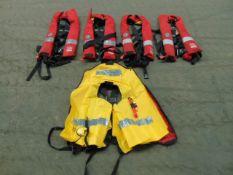 5 x Crewsaver Life Jackets