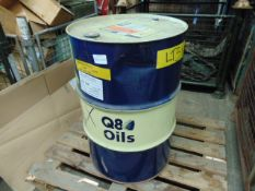 1 x Unissued 205L Sealed Drum of Q8 Beethoven VHD Synthetic Cutting/Machining Coolant Oil