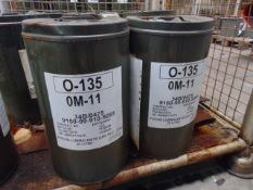 2 x Unissued 25L Drums of OM-11 High Performance Engine Oil