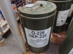 1 x Unissued 25L Drum of OEP 220 Extreme Pressure Gear Oil 80W90 Guage