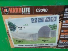 """Container Shelter 20'W x 40'L x 6'6"""" H P/No C2040"""