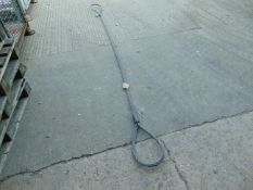 """3/4"""" x 10' LOOPED WIRE ROPE SWL V4.9T *UNUSED*"""