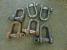 6 x 5T D shackles