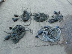 5 x NATO socket trailer lighting cables