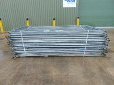 35 x Heras Style Galvanised Fencing Panels 3.5m x 2m