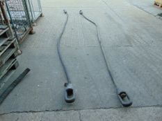 2 x LARGE RECOVERY WIRE ROPES AS USED ON CHALLENGER 2