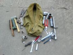 VARIOUS TOOLS AND CANVAS BAG