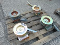 4 x Metool SE150 30 Metre Self Retracting Earth Cable Drums