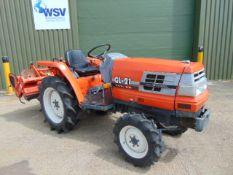 Kubota GL21 Compact Tractor c/w RL14 Rotavator ONLY 670 HOURS!