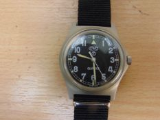 VERY RARE UNISSUED CWC 0552 ROYAL MARINES/NAVY ISSUE SERVICE WATCH, NATO MARKINGS, DATED 1990