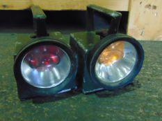 2 x Vintage British Army Bardic Lamps