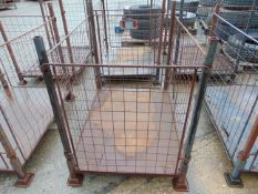 1 x STEEL STACKING STILLAGE, WITH REMOVABLE SIDES AND CORNER POSTS