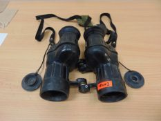 RARELY AVAILABLE BINOS 7 x 42 BRITISH ARMY L12A1 SELF FOCUSING, C/W FILTERS & STRAP ETC