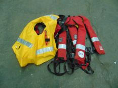 3 x Ex FIRE & RESCUE LIFEVESTS