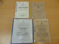 VARIOUS MANUALS, INCLUDING FOR SAXON, CAR SALOON ARMOUR PROTECTED (CSAP) & COOKSET NUMBER 4