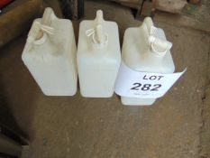 3 x 5 LITRE CONTAINERS WITH TAP