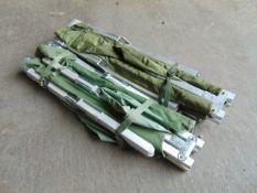 2 x light weight British Army Folding Camp Beds