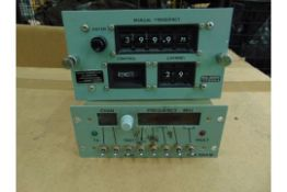 FREQUENCY SELECTOR AND CONTROL UNIT HF PRESET