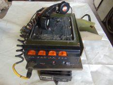 PYE PEGASUS VHF VEHICLE RADIO COMPLETE WITH BRACKET, POWER SUPPLY AND HANDSET