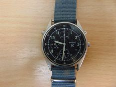 VERY NICE R.A.F. PILOTS ISSUE SEIKO GEN 2 CHRONO WITH NATO MARKINGS, DATED 1994
