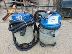 2 x Nilfisk Hipower Industrial Vacuum Cleaners