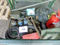 VARIOUS VEHICLE CES ITEMS, INCLUDING 10t JACKS, FIRE EXTINGUISHERS, FIRST AID KITS ETC
