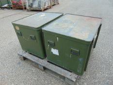 2 x Large Aluminium Storage Boxes 85 x 73 x 65 cms