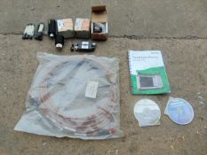 VARIOUS ANTENNAS, FIBRE OPTIC RX CABLE AND MANUAL WITH CD'S FOR SPECTRUM ANALYSER
