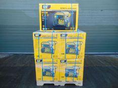 QTY 5 x UNISSUED Caterpillar RP2500 Industrial Petrol Generator Sets.